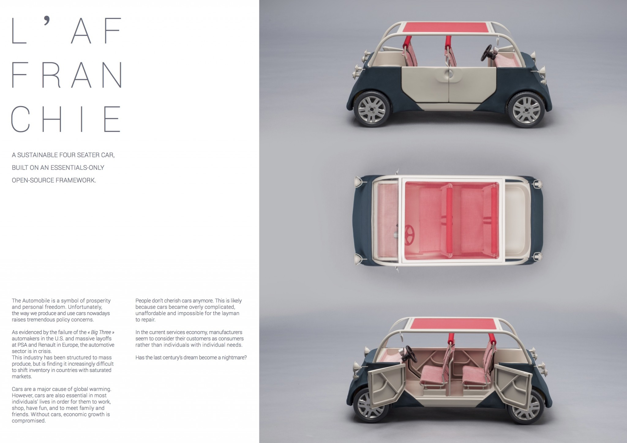 L affranchie a sustainable car design Red Dot Award Open Motors